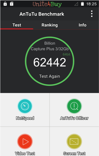 Billion Capture Plus 3/32Gb antutu benchmark результаты теста (score / баллы)